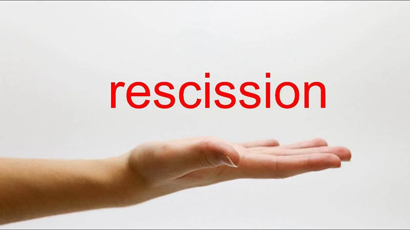 How Does a Timeshare Rescission Work?